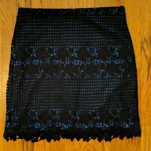 Ann Taylor Loft Black Lace Skirt